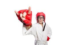 Man boxer isolated on the white Royalty Free Stock Images