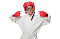 Man boxer isolated on white Stock Image