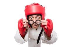 Man boxer isolated on white Royalty Free Stock Image
