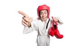 Man boxer isolated on white Royalty Free Stock Photos