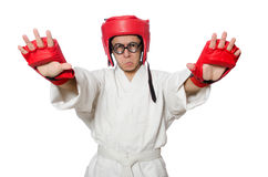 Man boxer isolated on white Stock Images