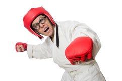 Man boxer isolated on white Royalty Free Stock Photo