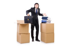 Man with boxes Royalty Free Stock Photo