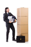 Man with boxes Stock Photography
