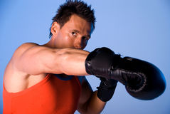 Man boxing. Stock Photos