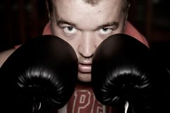 Man boxing Royalty Free Stock Photo
