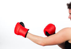 Man in a boxing fight Royalty Free Stock Photos