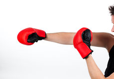 Man in a boxing fight Royalty Free Stock Photo