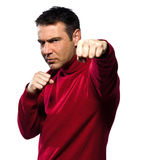 Man boxing gesture Stock Photo