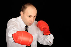 Man in Boxing Gloves Stock Image