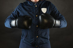 A man with boxing gloves Stock Photos