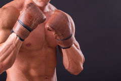 The man in boxing gloves Stock Image