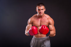 The man in boxing gloves Stock Photo