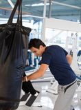 Man boxing at the gym Stock Photo