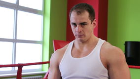 A man in the Boxing ring stock footage