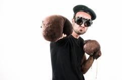 Man boxing shot on white background Stock Images