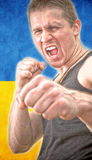 Man in a Boxing stance Stock Image