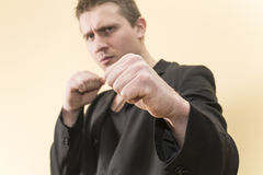 Man in a Boxing stance Royalty Free Stock Photography