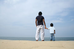 Man and a Boy Royalty Free Stock Photo