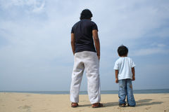 Man and a Boy Stock Images
