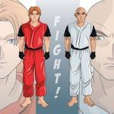 Man boy anime comic design. Man boy young anime manga comic cartoon fight game icon. Colorful design. Vector illustration Royalty Free Stock Image