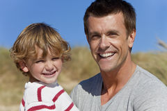 Man & Boy, Father and Son Having Fun Outside Royalty Free Stock Image