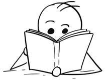 Man or Boy Reading a Book Stock Photography