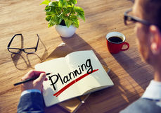 Man Brainstorming about Planning Concept.  Royalty Free Stock Image