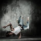 Man brake dancing Royalty Free Stock Image