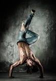 Man brake dancing Royalty Free Stock Images