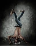 Man brake dancing Stock Image