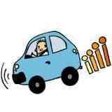 Man braking. Full vector cartoon Stock Images