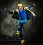 Man break-dancing Royalty Free Stock Image