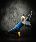 Man break-dancing Royalty Free Stock Photos