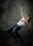 Man break-dancing Stock Photography