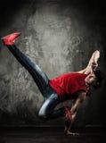 Man break-dancing Stock Photo