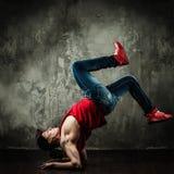 Man break-dancing Royalty Free Stock Photography