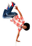 Man breakdancing Royalty Free Stock Photos