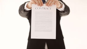 Man breaking a contract stock video