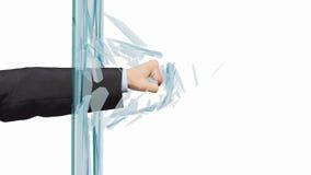 Man breaking glass Royalty Free Stock Photo