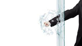 Man breaking glass Stock Photos