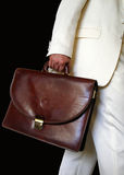 Man with brief case Royalty Free Stock Image
