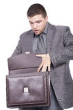 Man with a briefcase Stock Photo