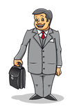 Man with briefcase Royalty Free Stock Photos