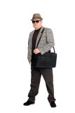 Man with a briefcase. Royalty Free Stock Photography
