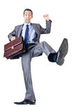 Man with briefcase Royalty Free Stock Photography