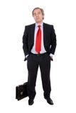 Man with a briefcase Royalty Free Stock Photos