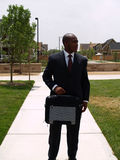 Man with briefcase Royalty Free Stock Images