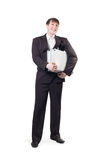 A man with a briefcase in his hands Stock Photography