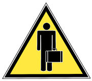 Man with briefcase sign Stock Photo